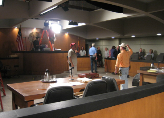 Courtroom Standing Set Los Angeles Hollywood Burbank
