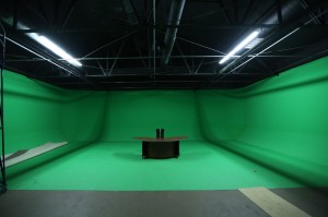Studio with Sets and green screen
