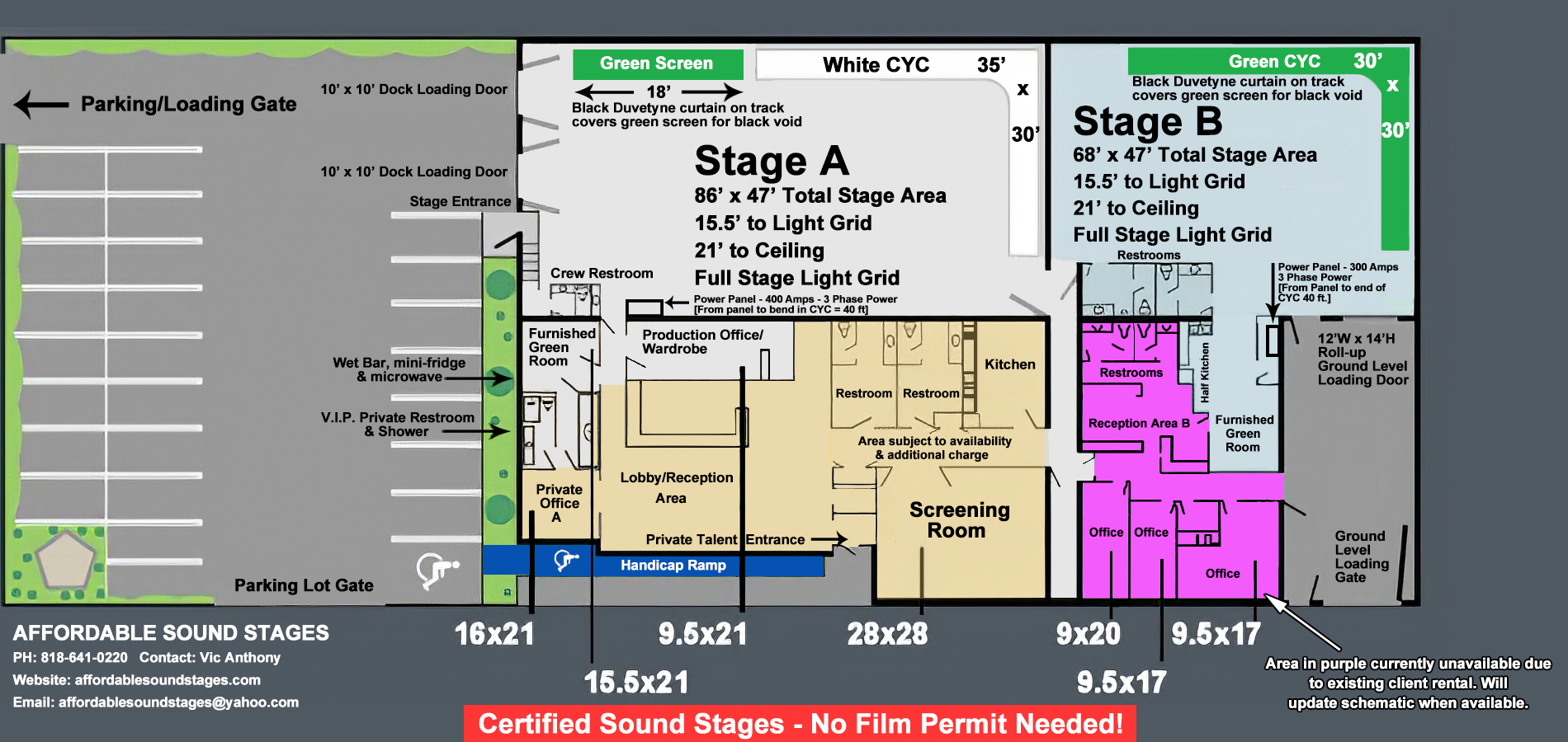 Affordable Sound Stages Stage Schematic